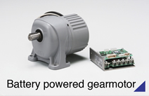 Battery powered gearmotor