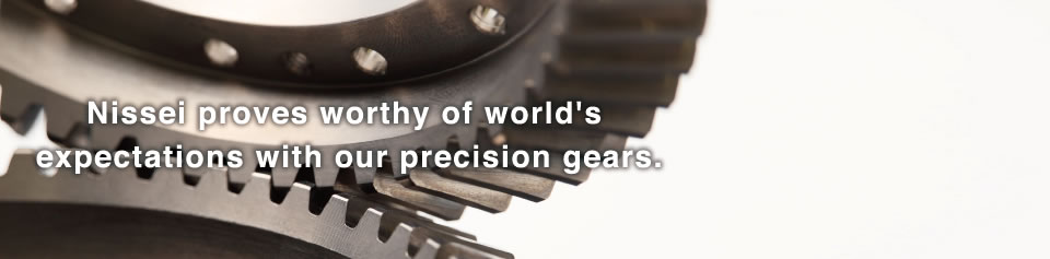 Reliability throughout the world with precision gears